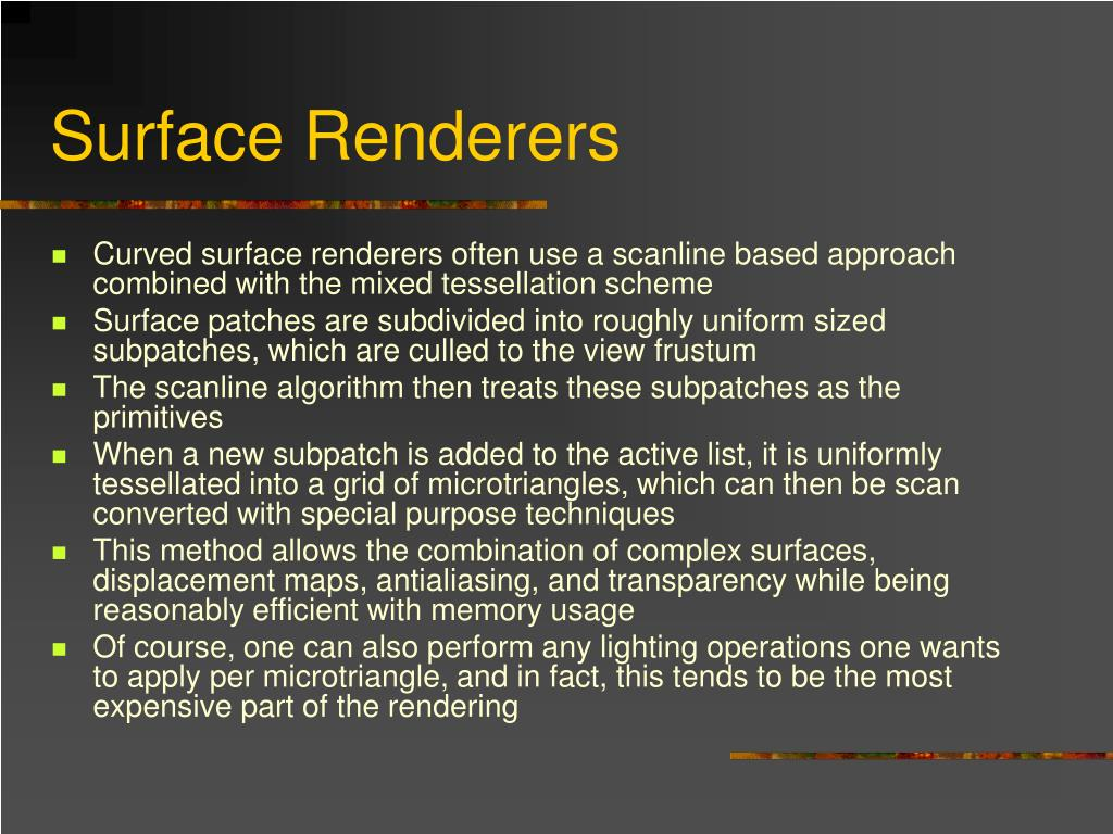 Surface Renderers
