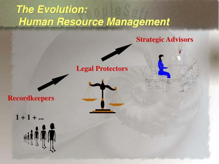 The evolution human resource management