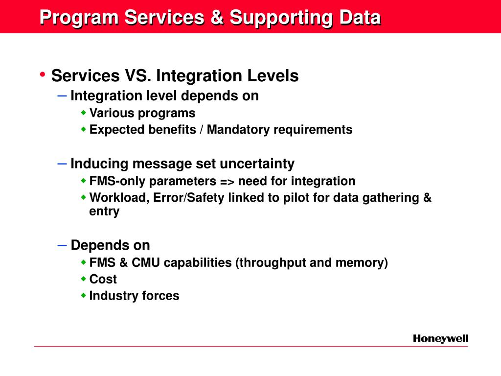 Program Services & Supporting Data