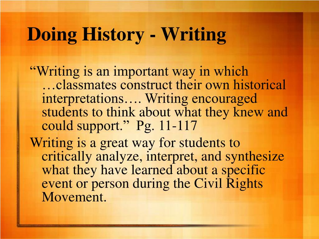 Doing History - Writing