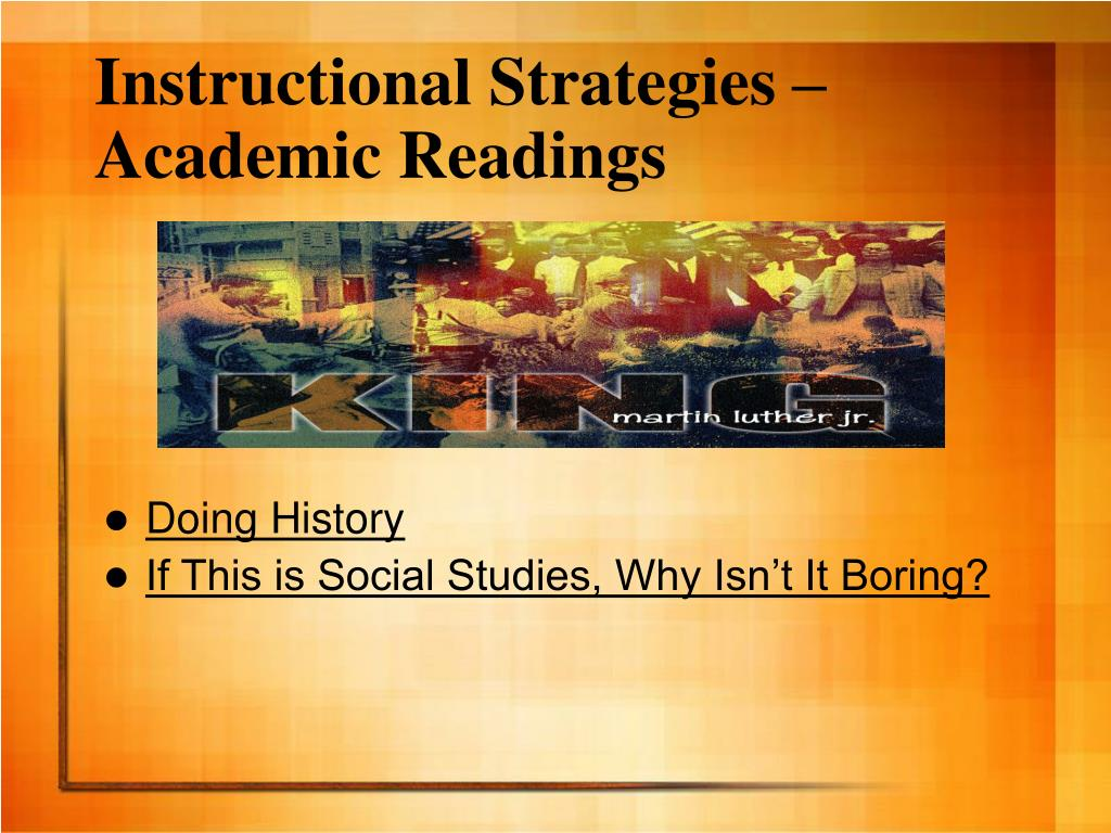 Instructional Strategies – Academic Readings