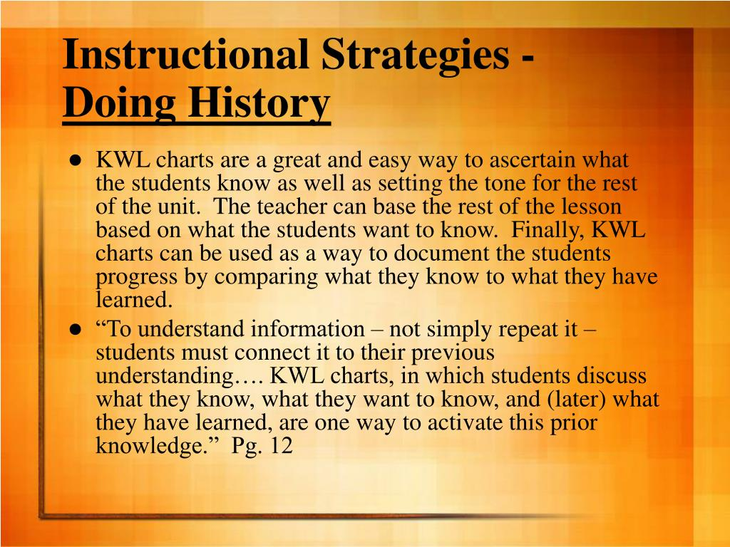 Instructional Strategies -