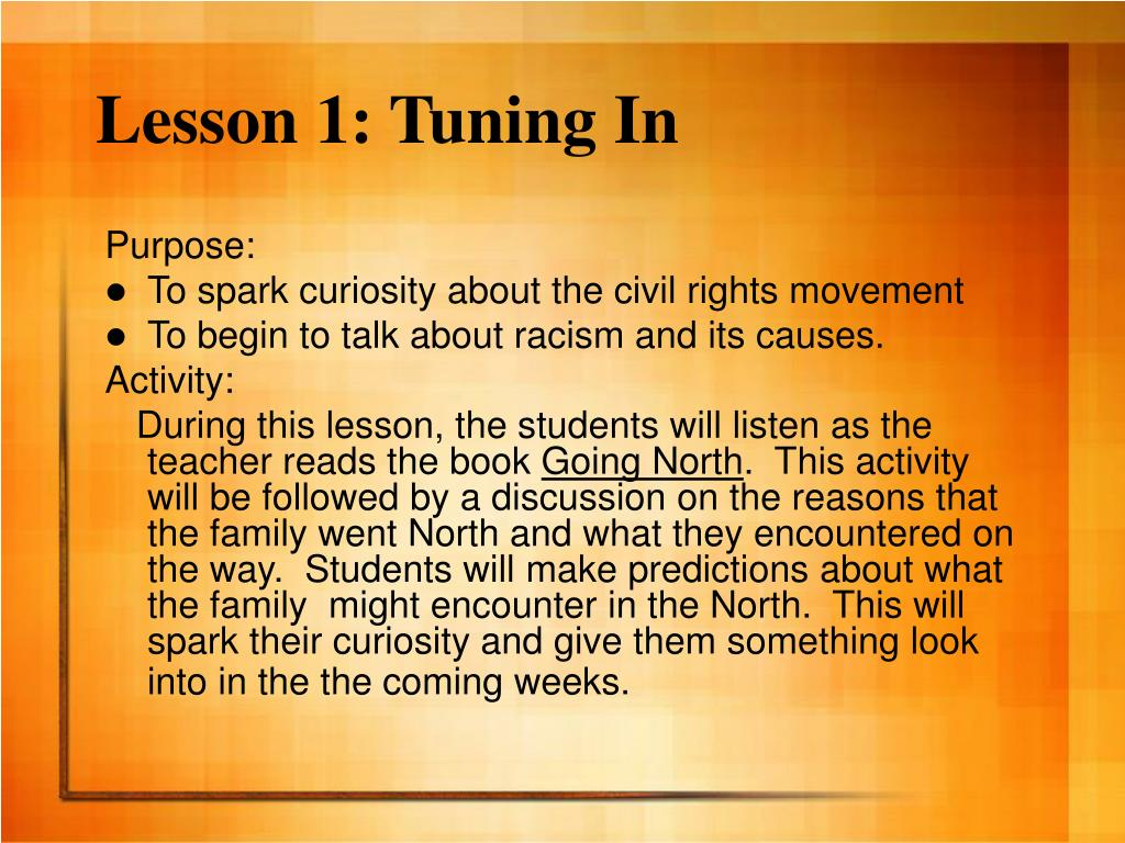 Lesson 1: Tuning In