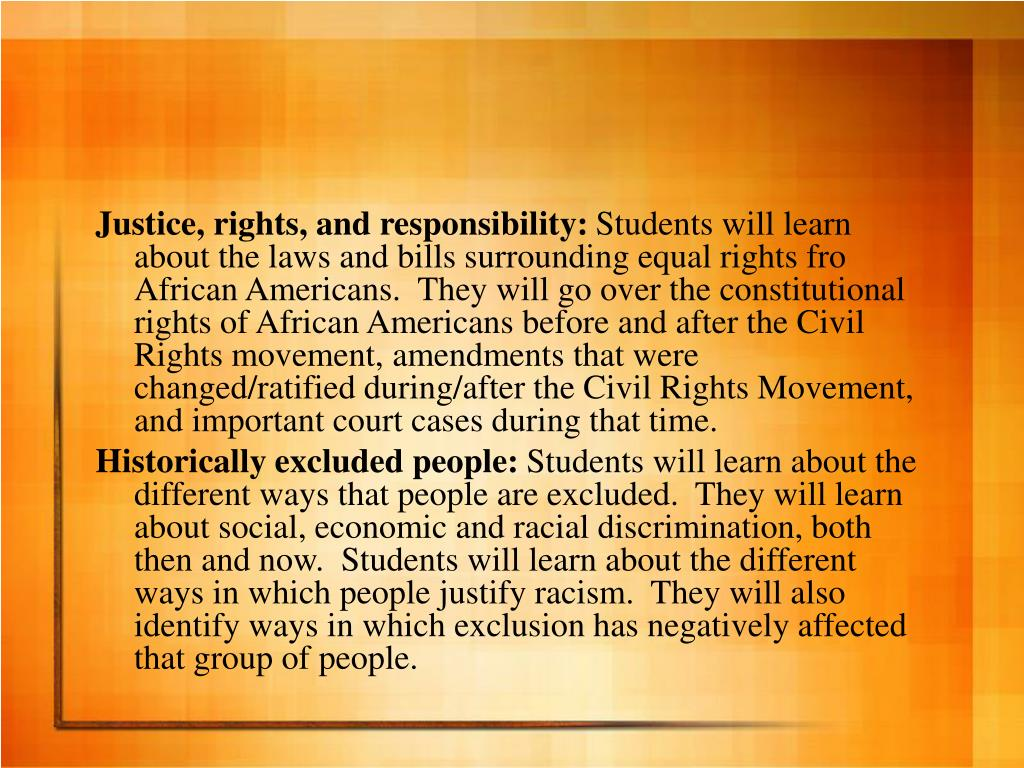 Justice, rights, and responsibility: