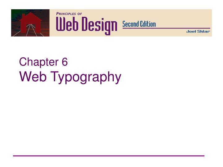 chapter 6 web typography n.