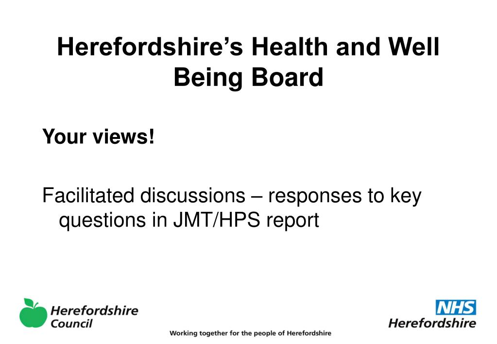 Herefordshire's Health and Well Being Board