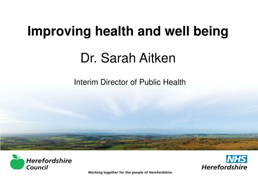 Improving health and well being