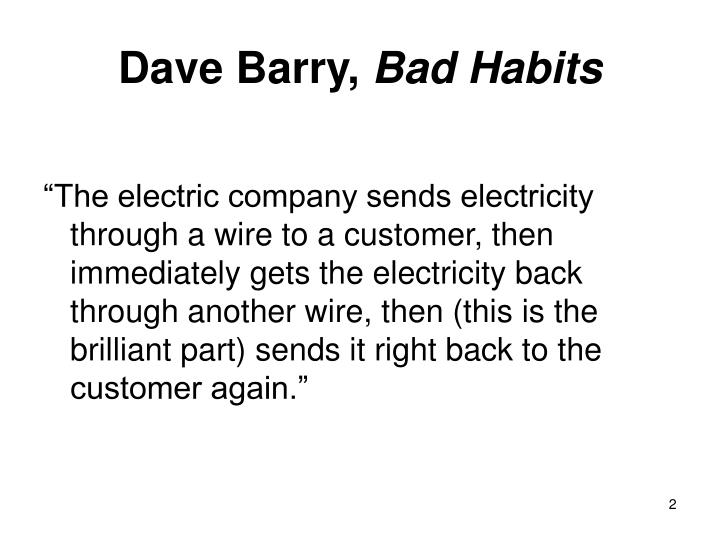 Dave barry bad habits