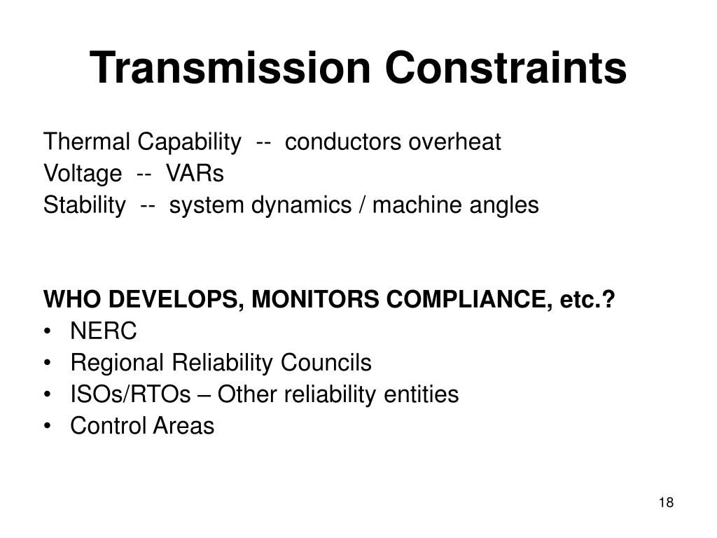 Transmission Constraints