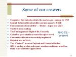 some of our answers4