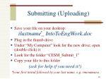 submitting uploading
