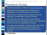 hypothesis testing57