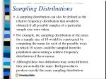 sampling distributions41
