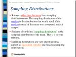 sampling distributions42