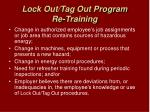 lock out tag out program re training