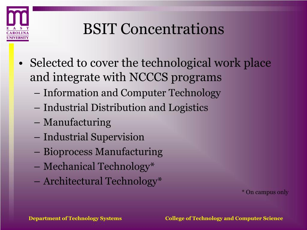 BSIT Concentrations