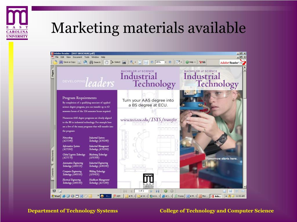 Marketing materials available