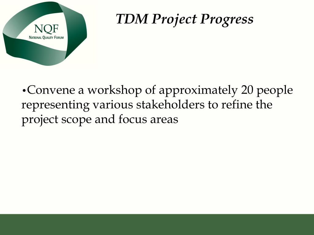 TDM Project Progress