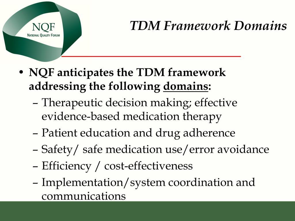 TDM Framework Domains