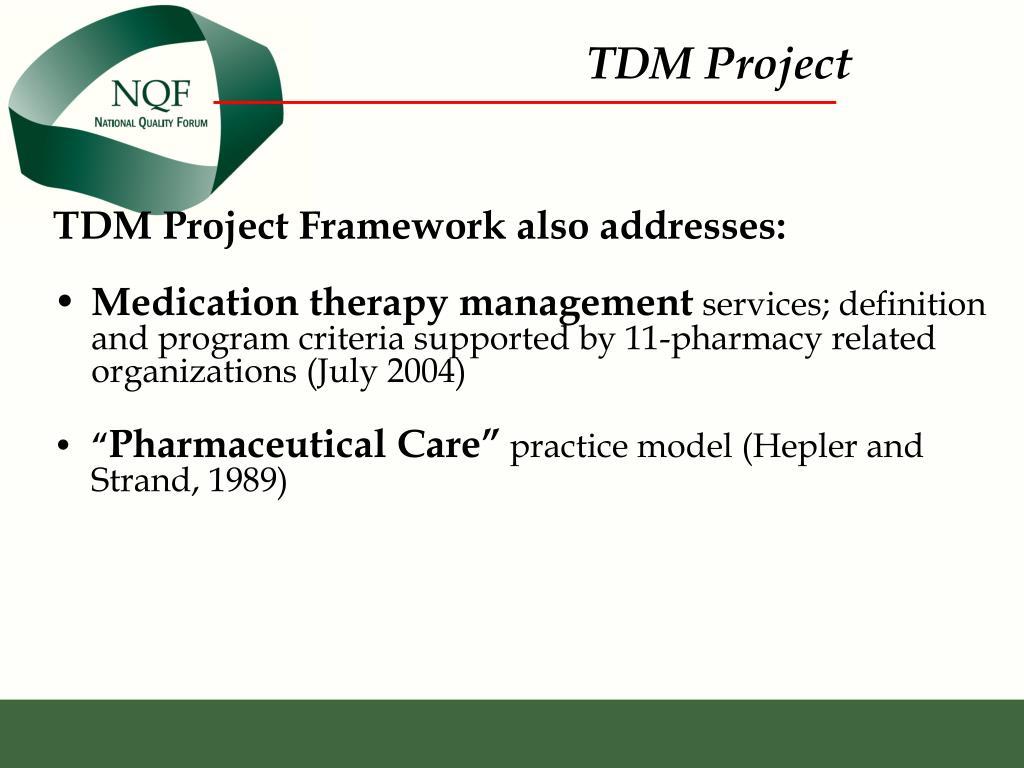 TDM Project