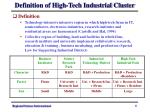 definition of high tech industrial cluster