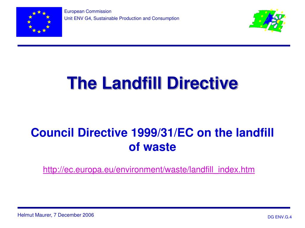 the landfill directive council directive 1999 31 ec on the landfill of waste l.