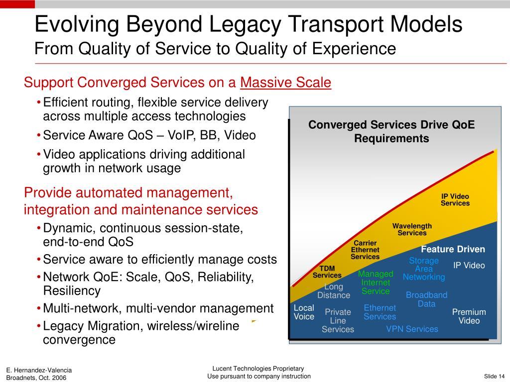 Evolving Beyond Legacy Transport Models