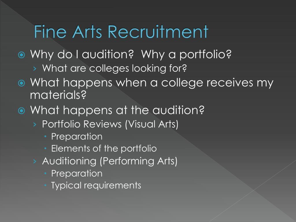 Fine Arts Recruitment