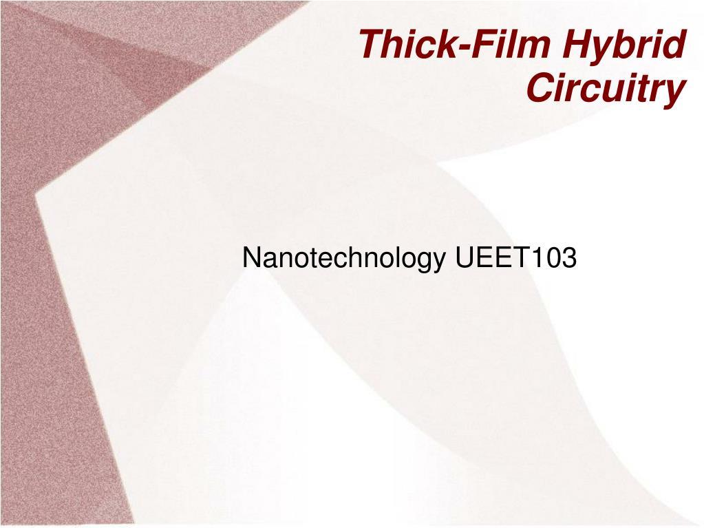 thick film hybrid circuitry l.