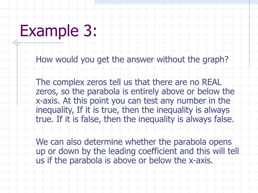 Example 3: