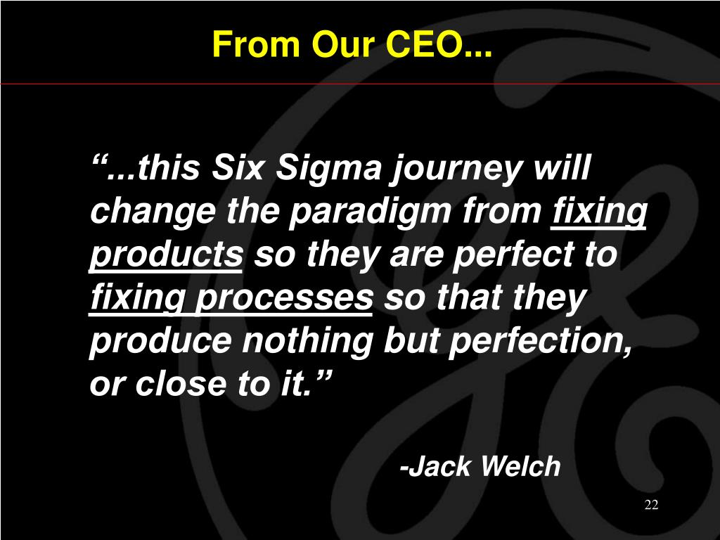 From Our CEO...