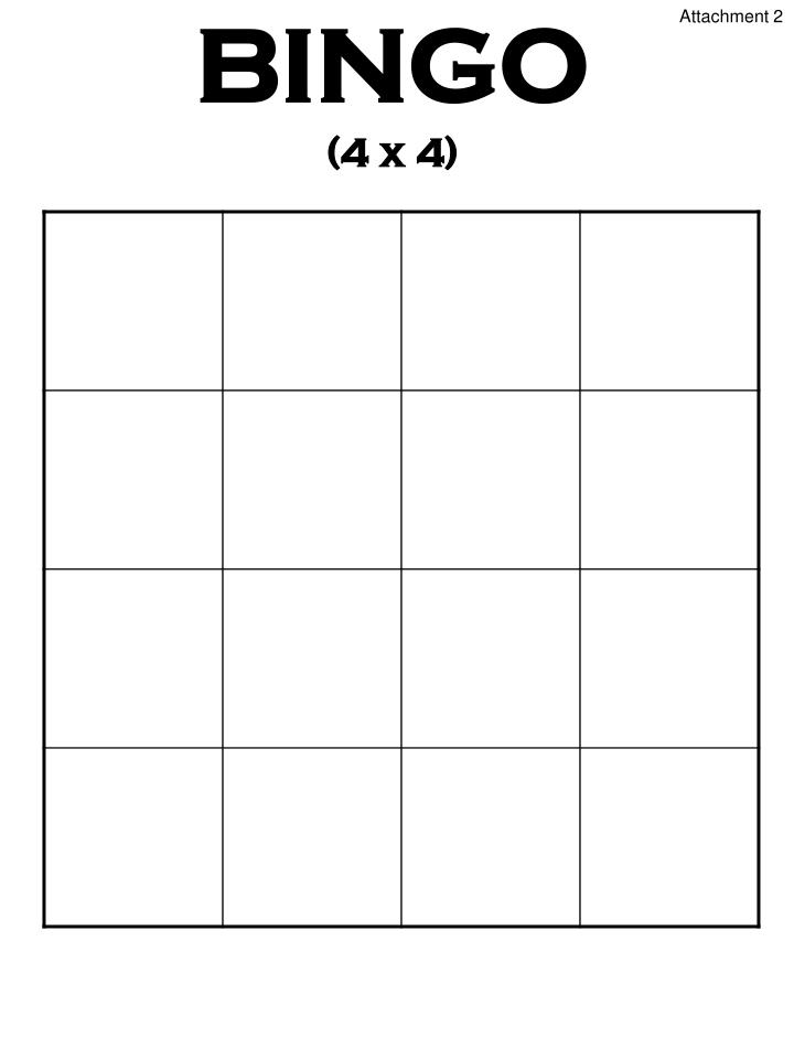 Bingo 4 x 4