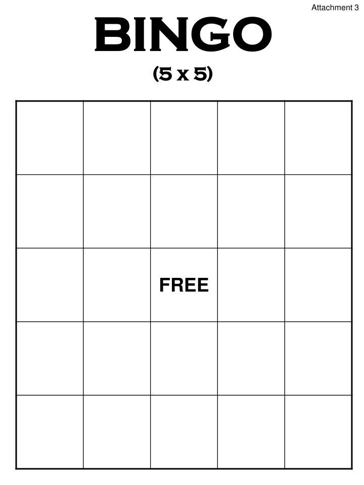 Bingo 5 x 5