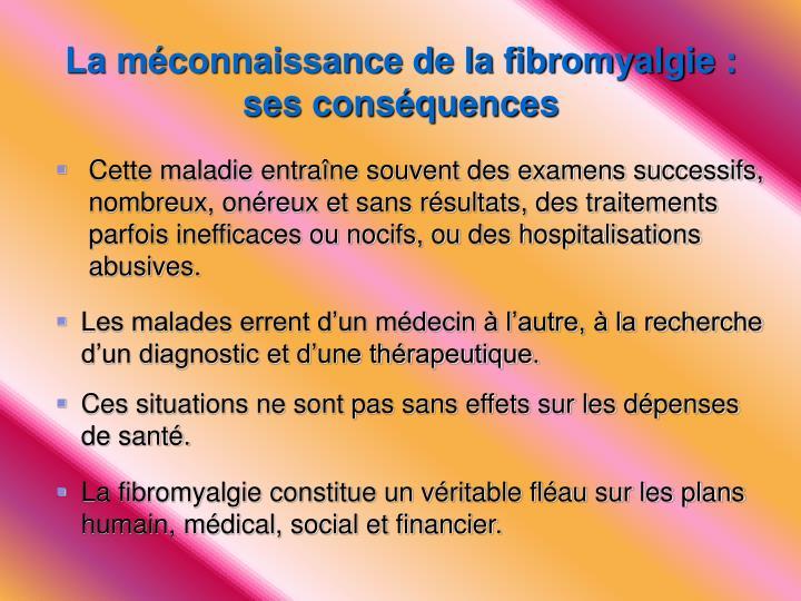 La méconnaissance de la fibromyalgie :