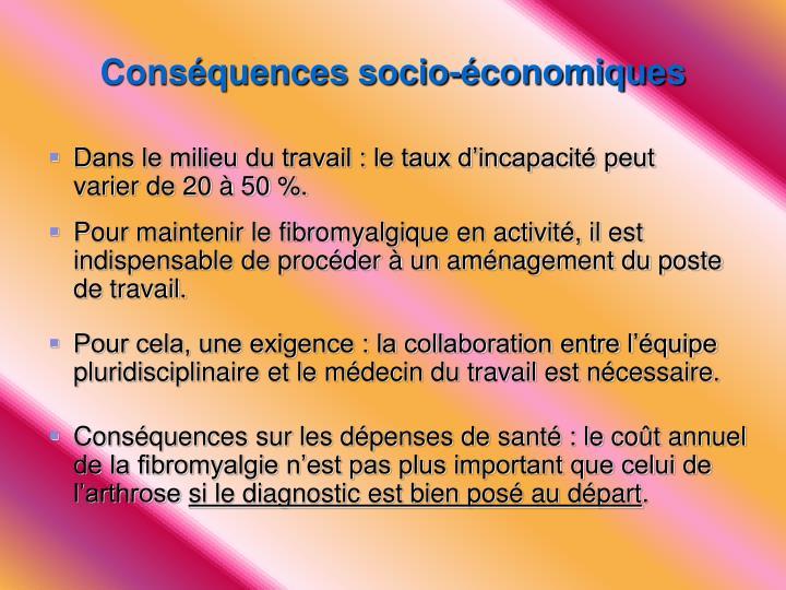 Conséquences socio-économiques