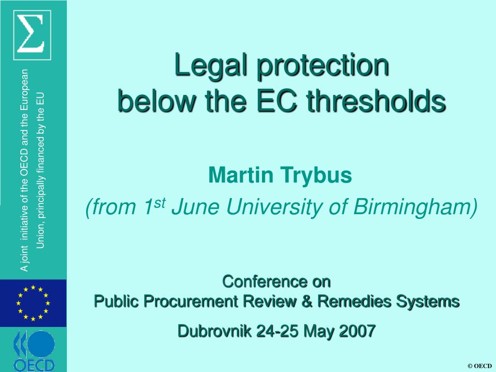 legal protection below the ec thresholds l.