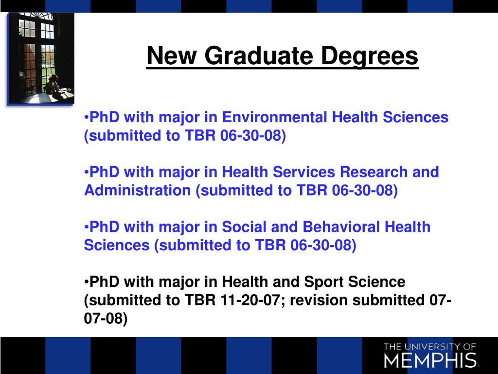 New Graduate Degrees