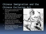 chinese immigration and the chinese exclusion act
