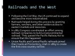 railroads and the west