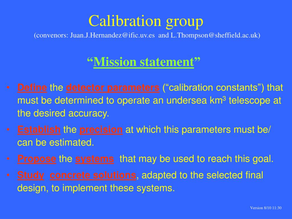 Calibration group