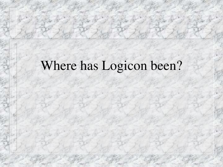 Where has logicon been