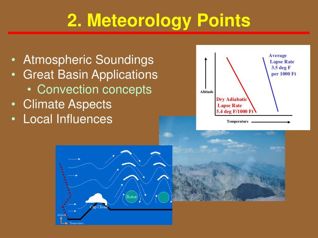 2. Meteorology Points