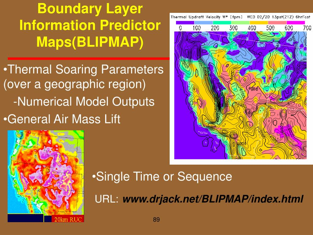 Boundary Layer Information Predictor Maps(BLIPMAP)