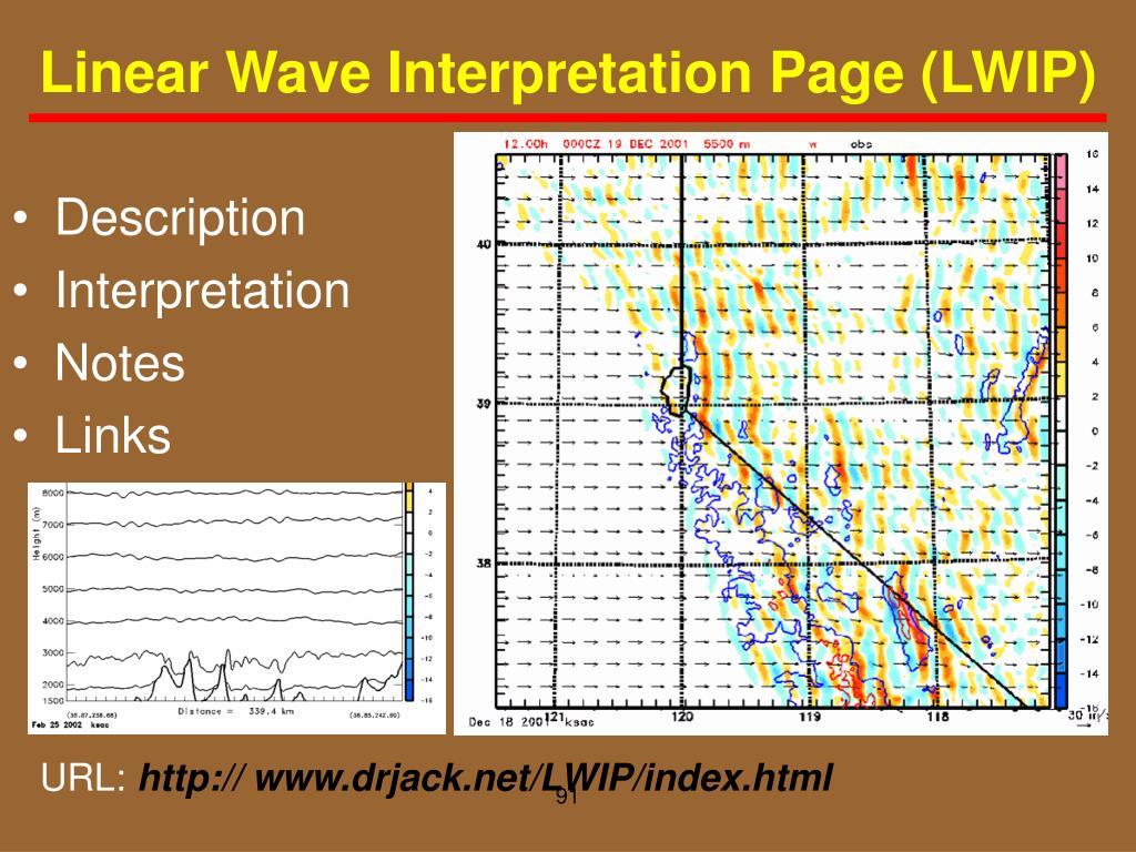 Linear Wave Interpretation Page (LWIP)