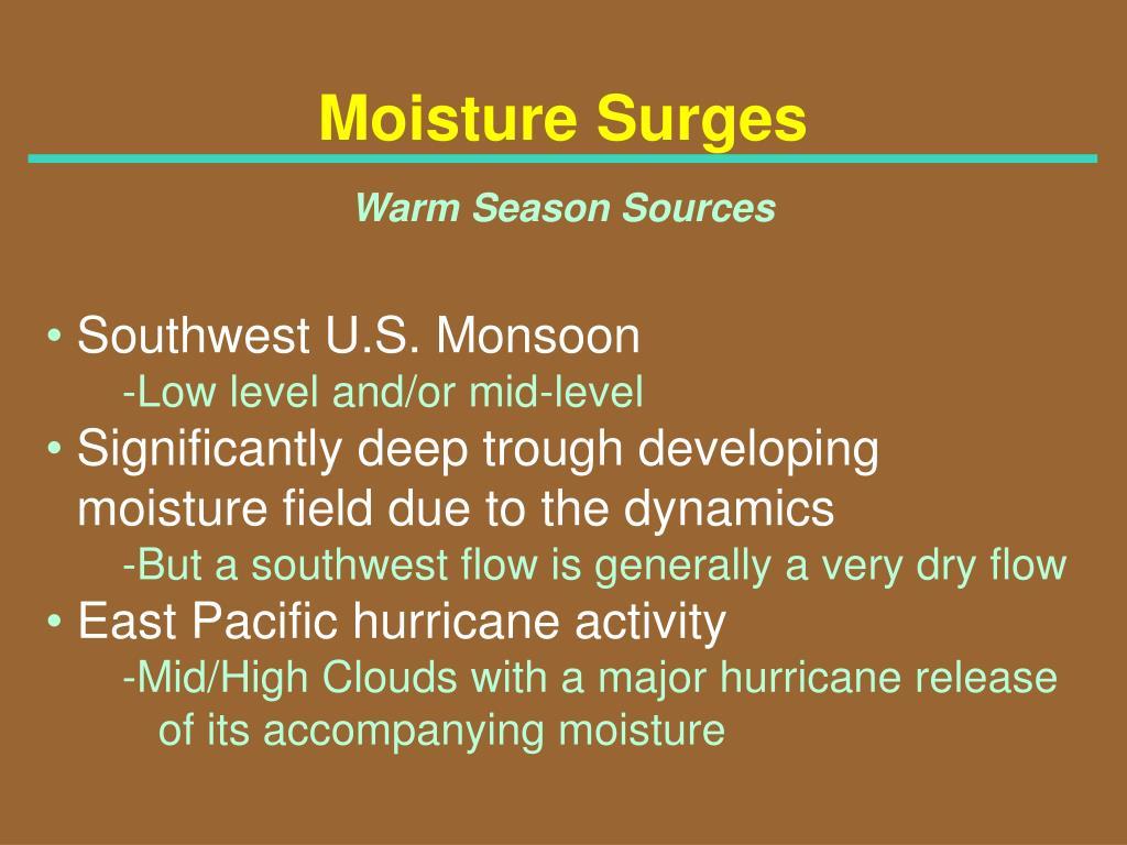 Moisture Surges
