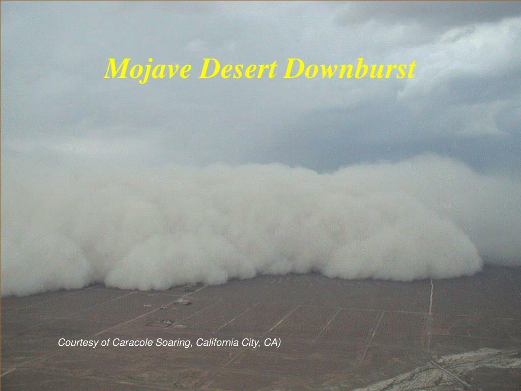 Mojave Desert Downburst