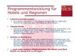 programmentwicklung f r hotels und regionen