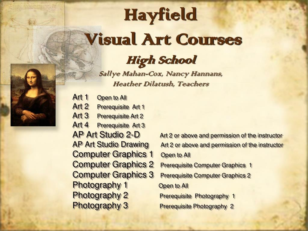 hayfield visual art courses high school sallye mahan cox nancy hannans heather dilatush teachers l.