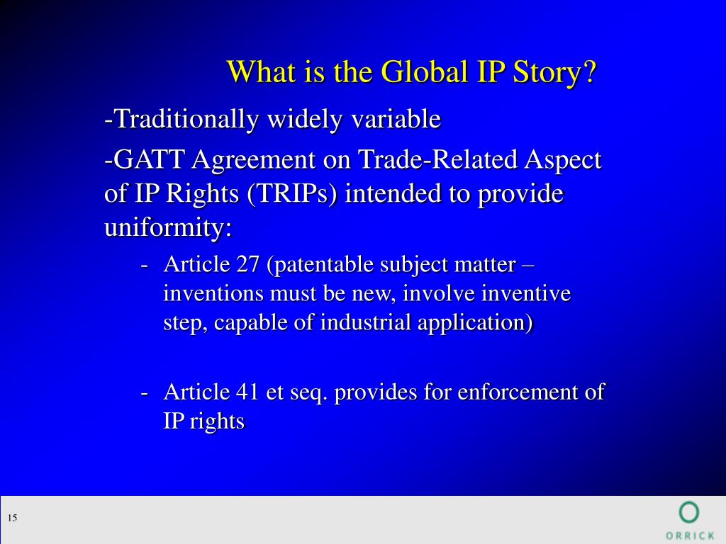What is the Global IP Story?