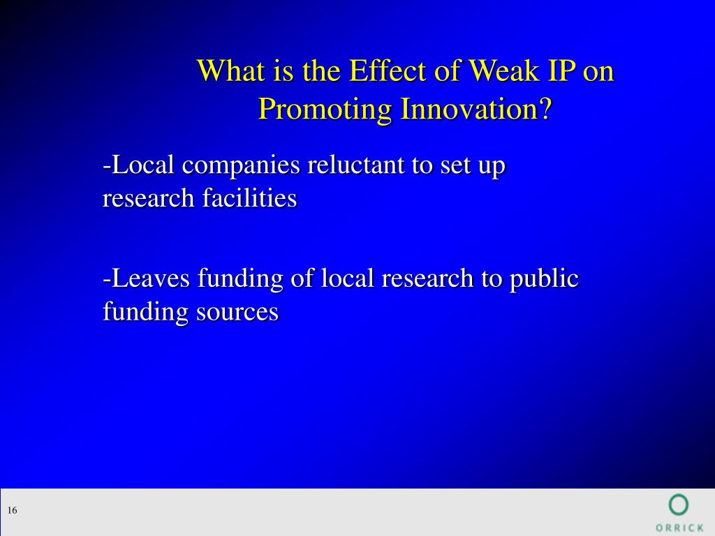 What is the Effect of Weak IP on Promoting Innovation?